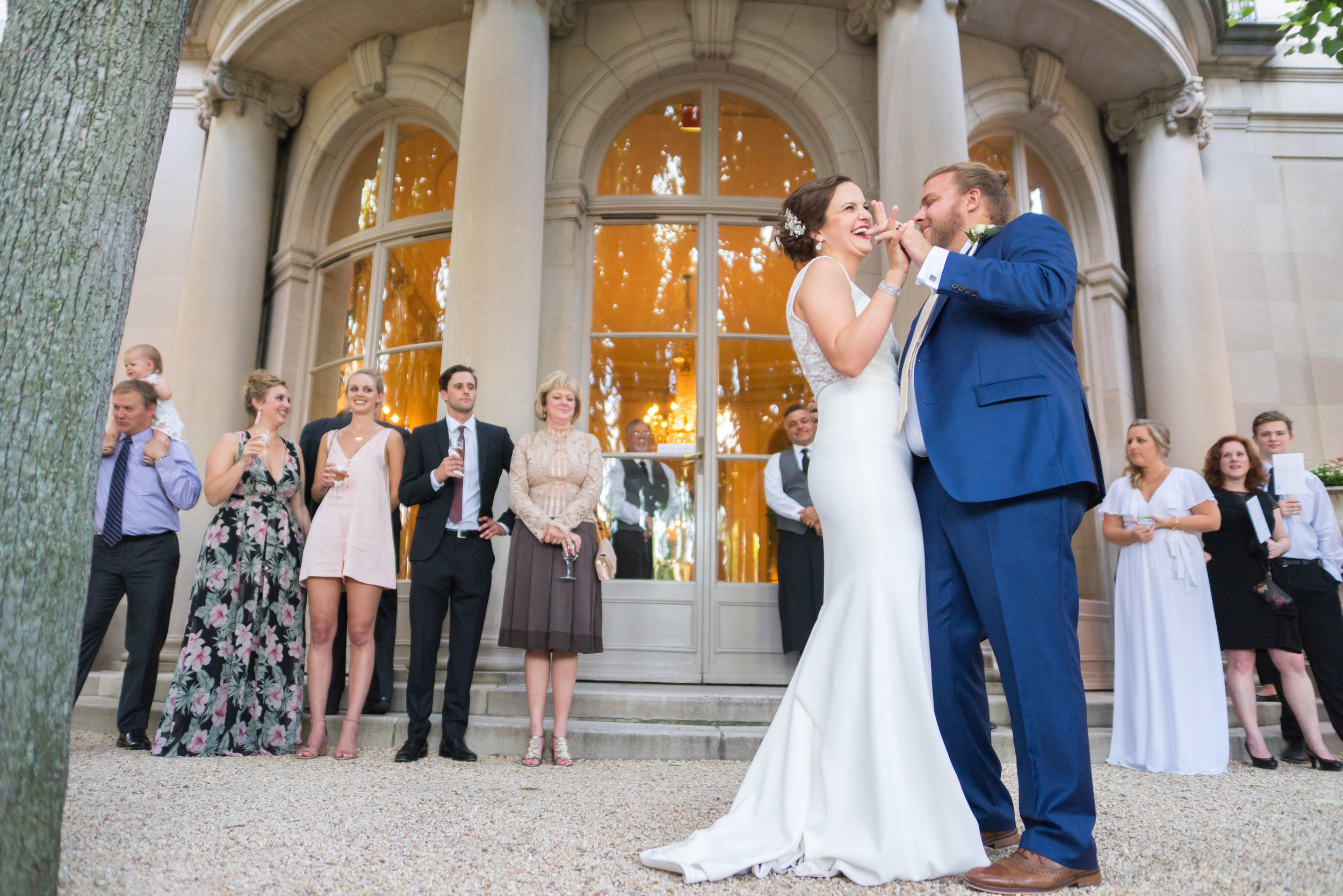 First dance outside at meridian house international