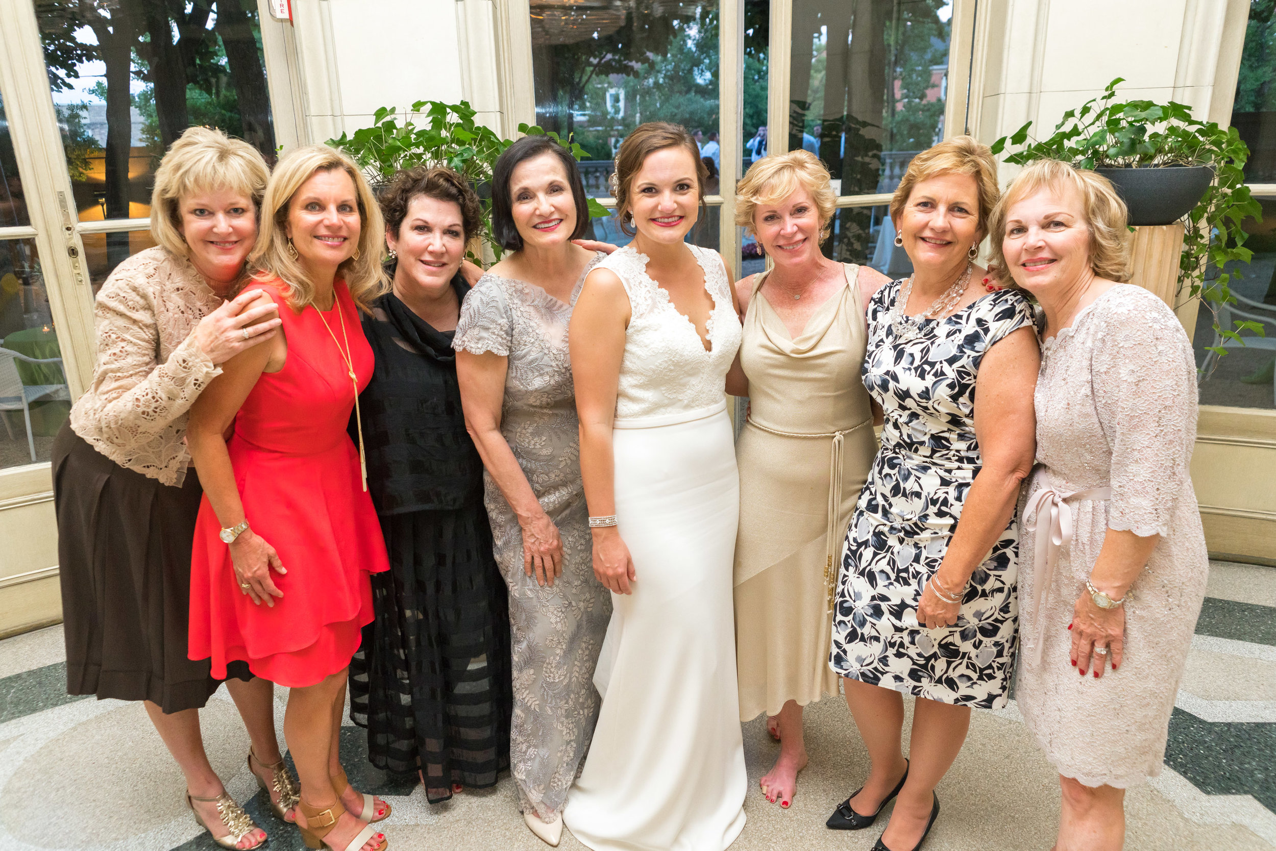 Wedding reception at meridian house