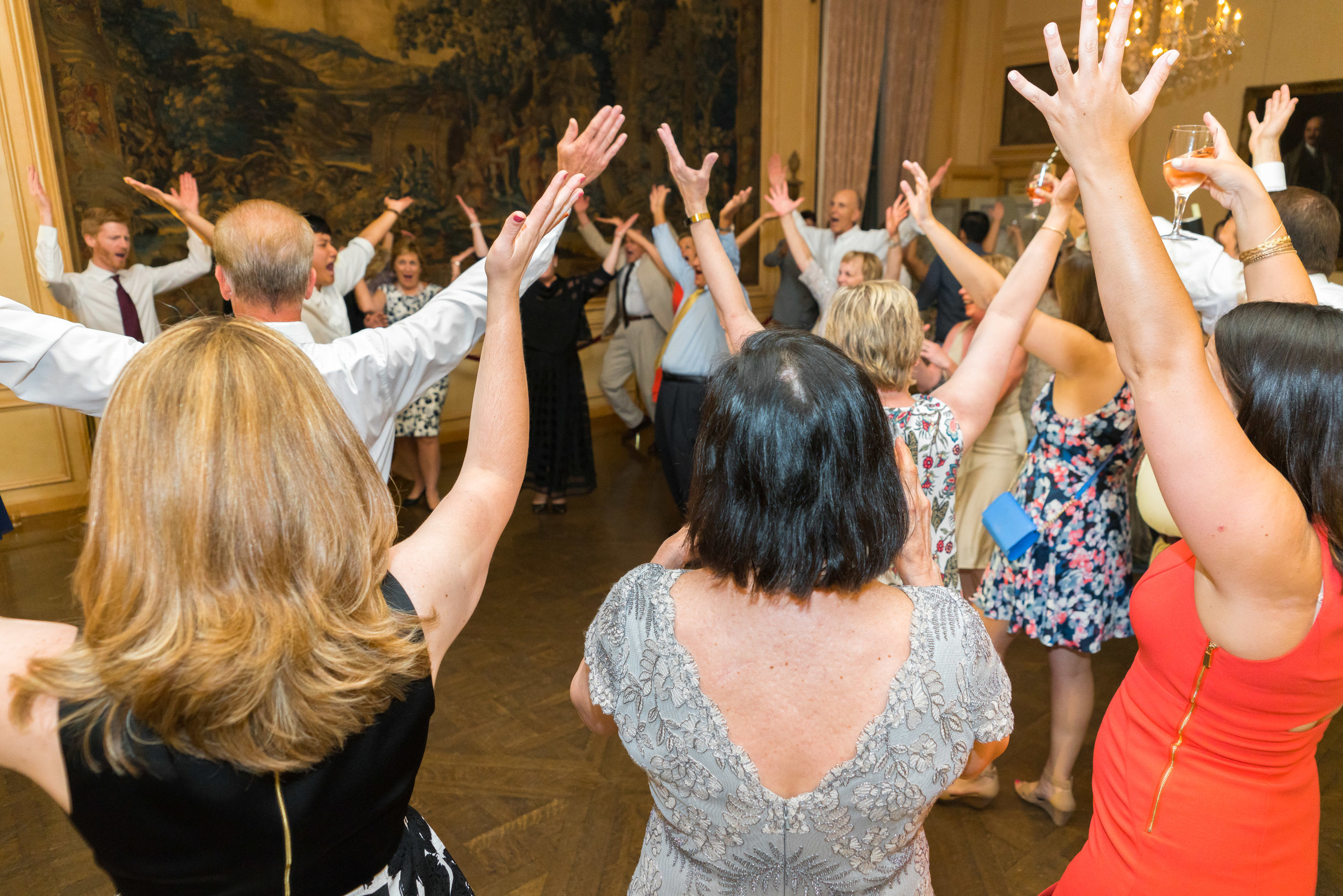 Wedding reception photography at Meridian House