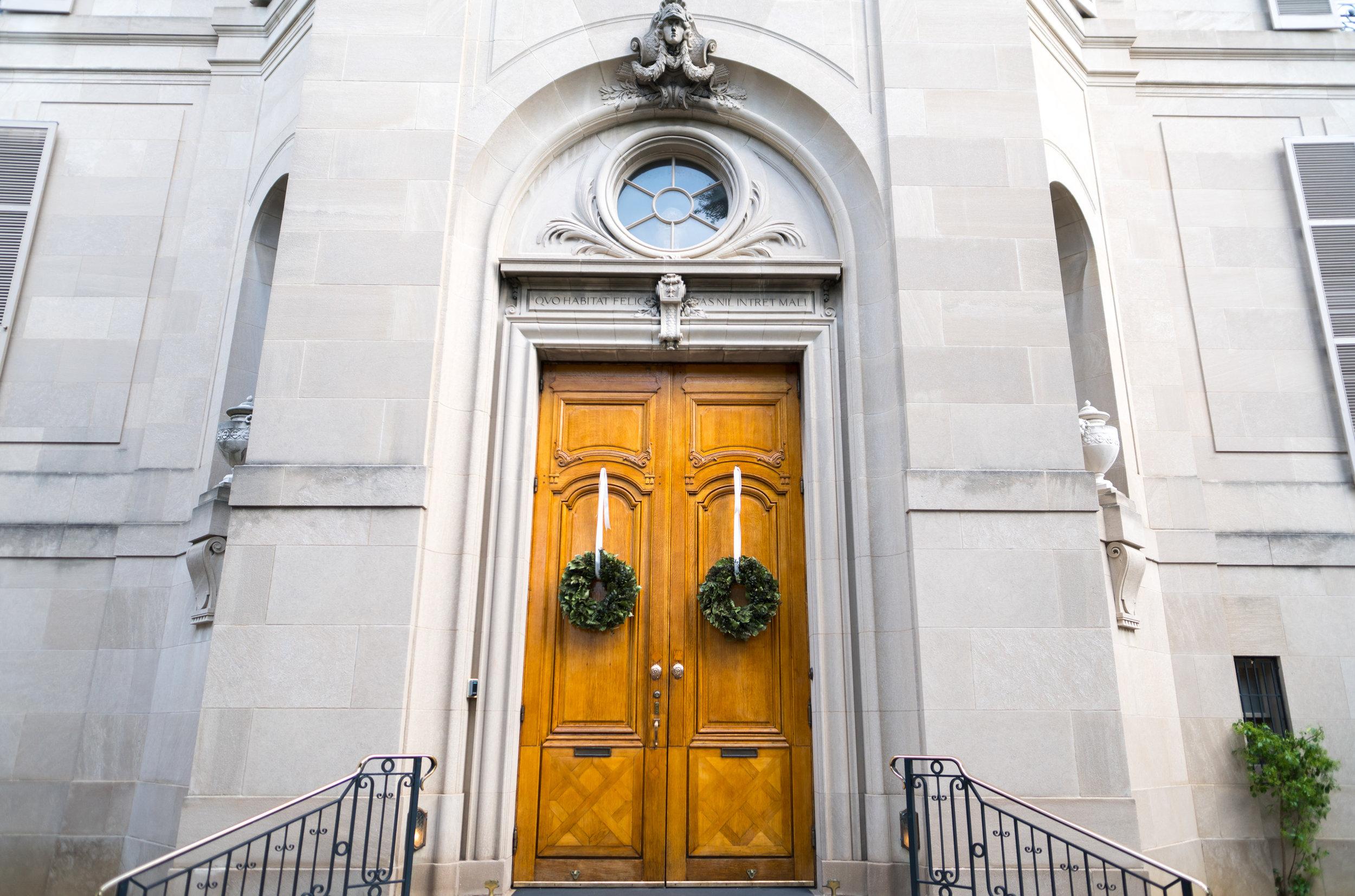 Front door entrance to Meridian House