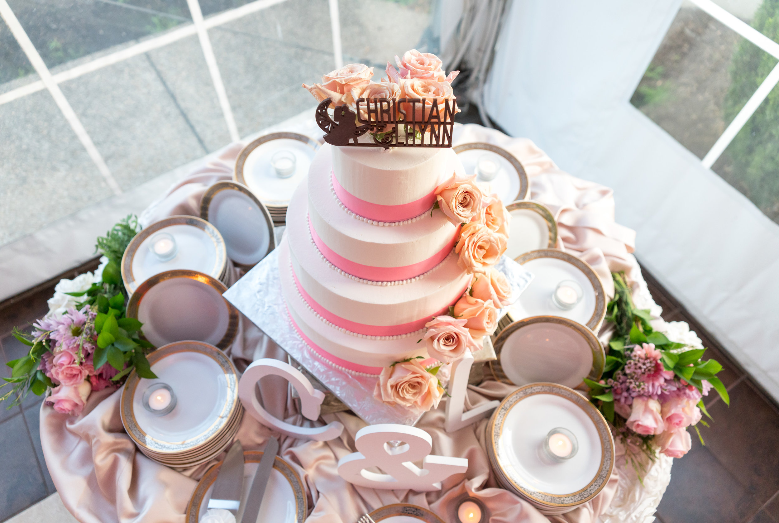 Gorgeous cake at The Villa in Beltsville