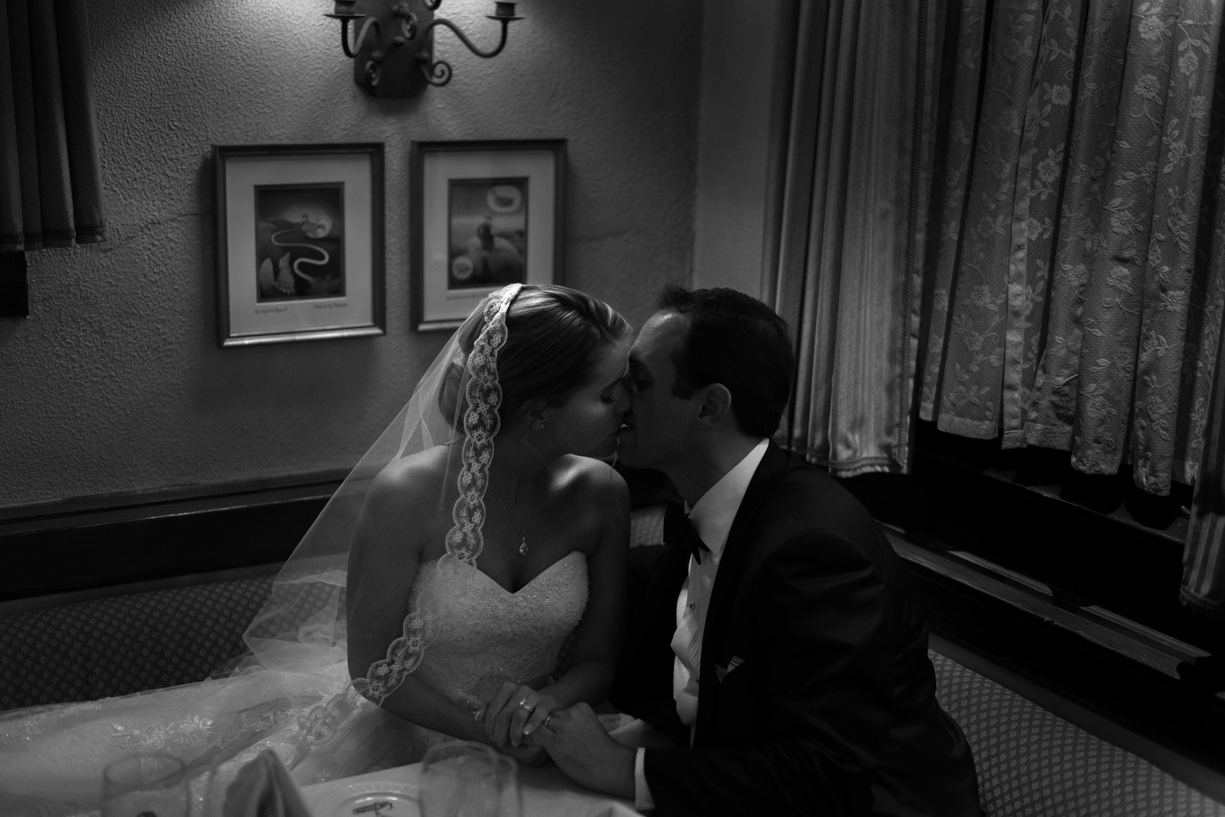 Black and white bride and groom at La Ferme by Jessica Nazarova