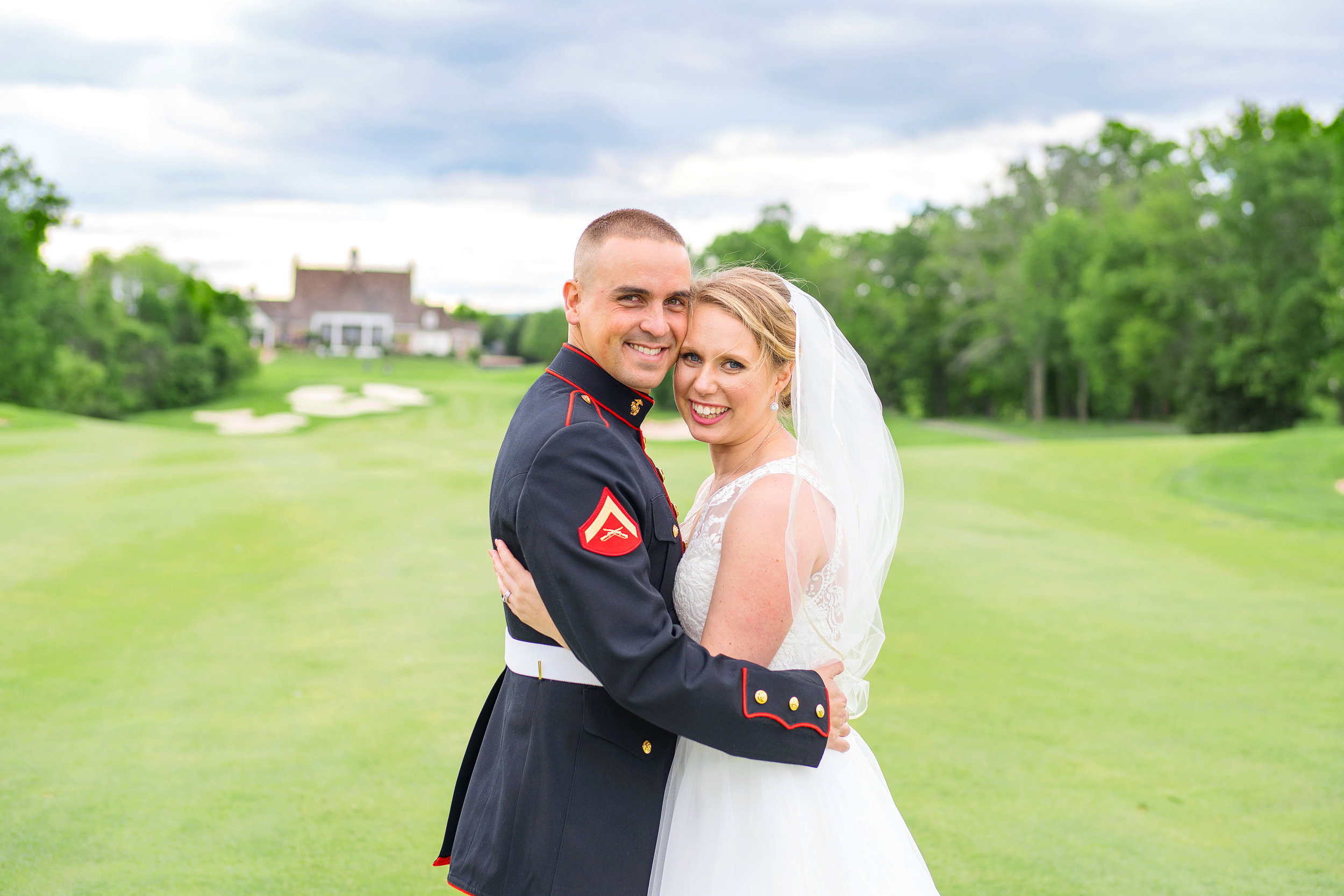 Piedmont Golf Course 18th hole wedding portraits