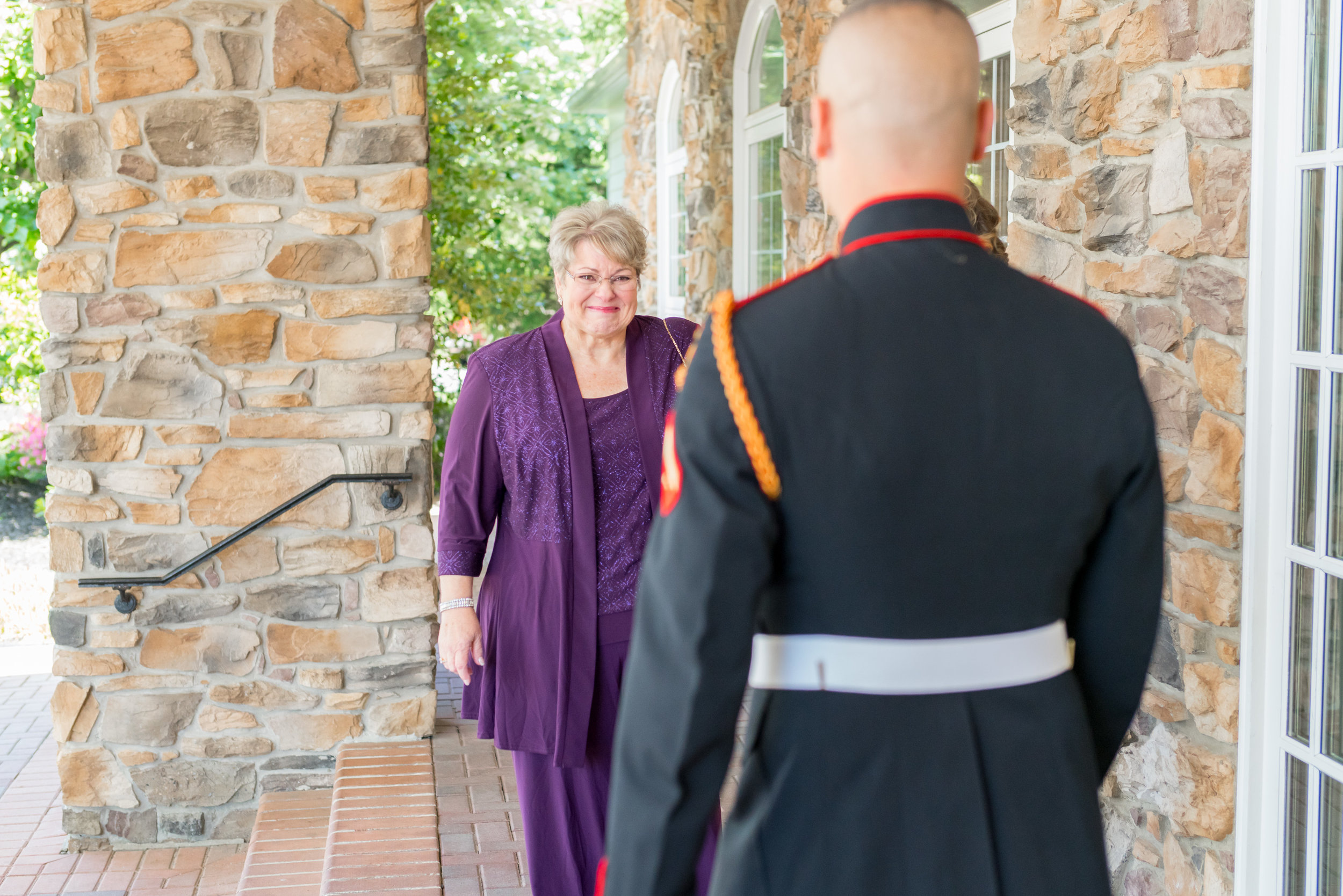 Groom at military wedding at the Piedmont Golf Course in Virginia