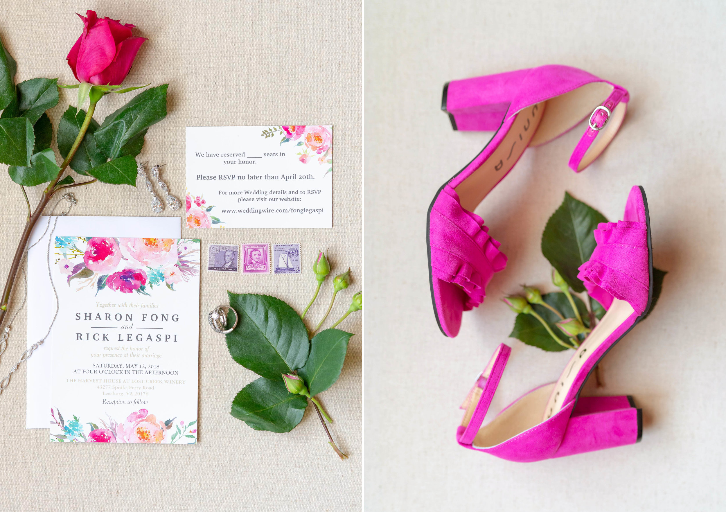 Wedding invitations at Harvest House at Lost Creek Winery