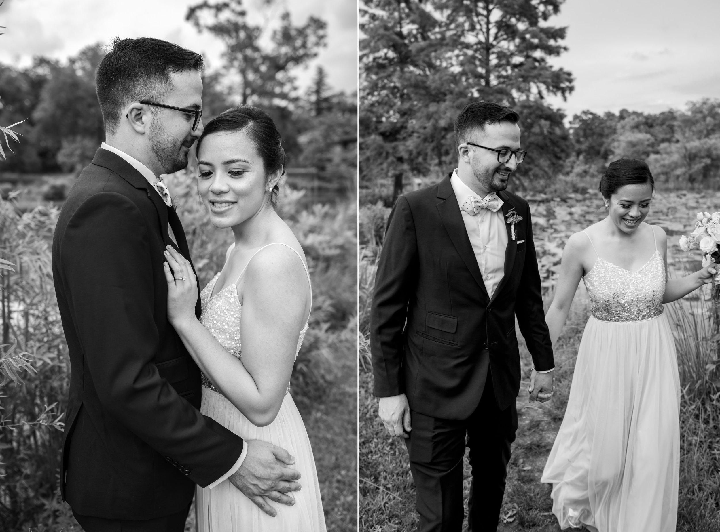 Kenilworth Aquatic Gardens portrait of bride and groom first look