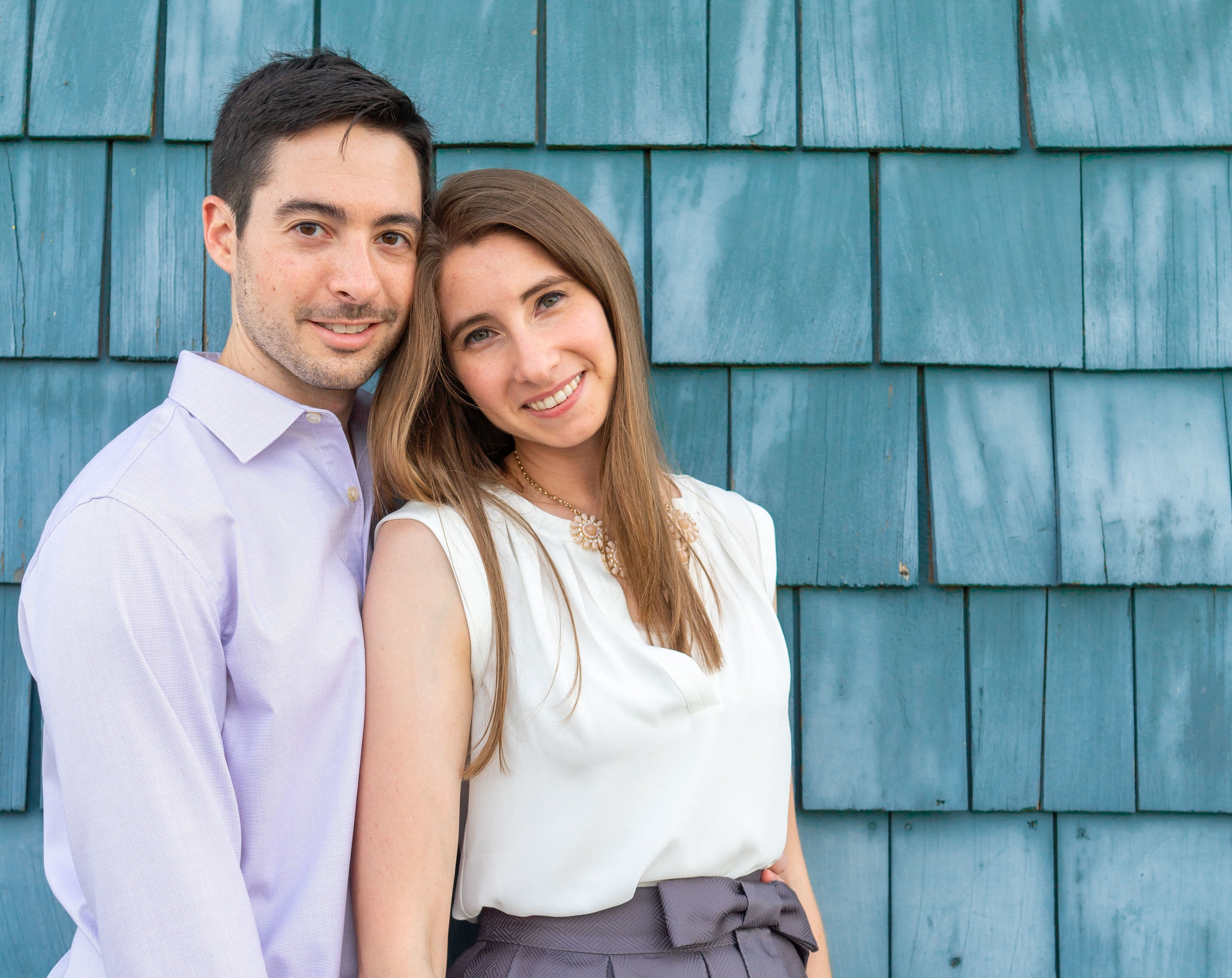 Alexandria engagement session in front of the Chart House waterfront bar and grill