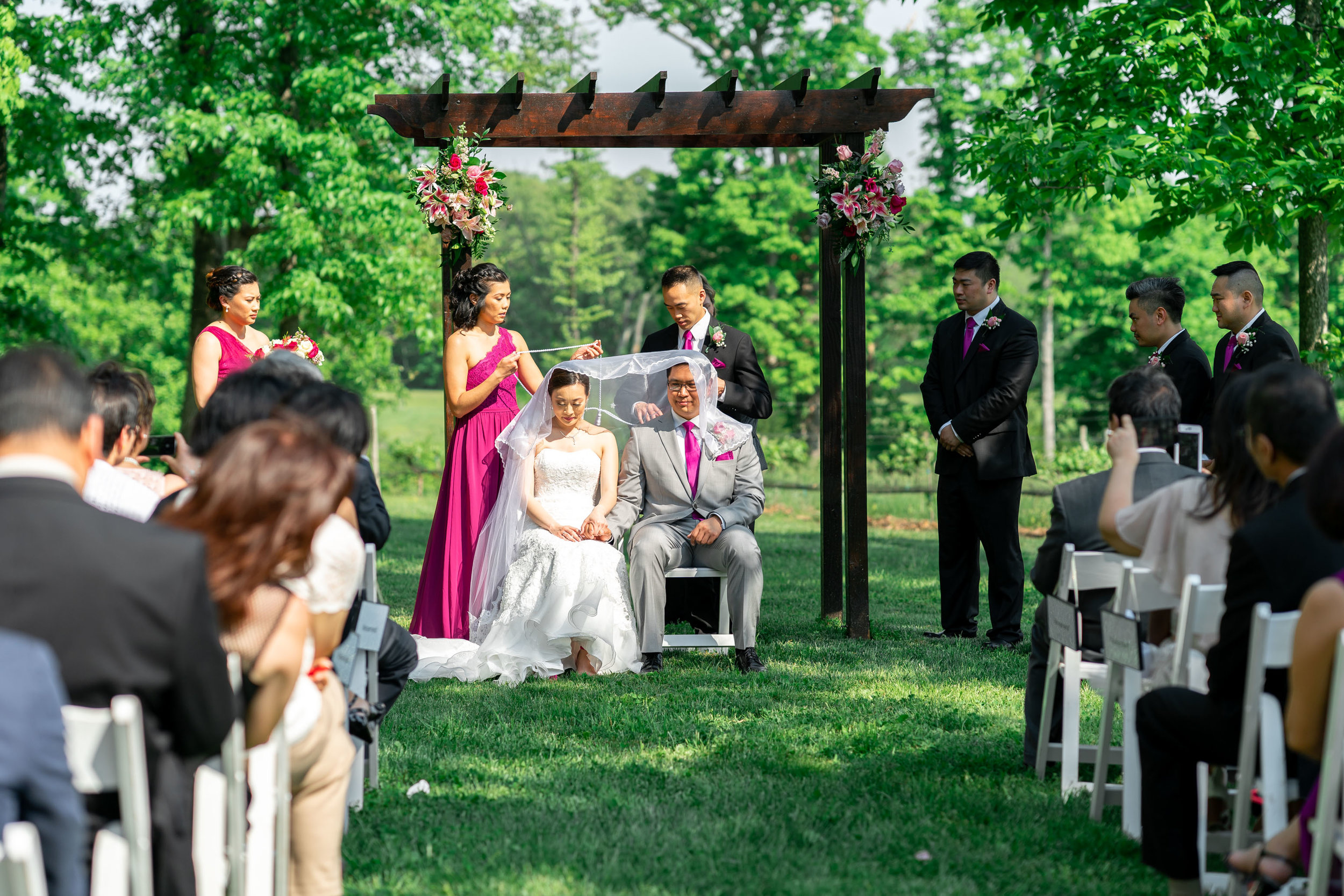 Filipino wedding ceremony at Harvest House Lost Creek Winery