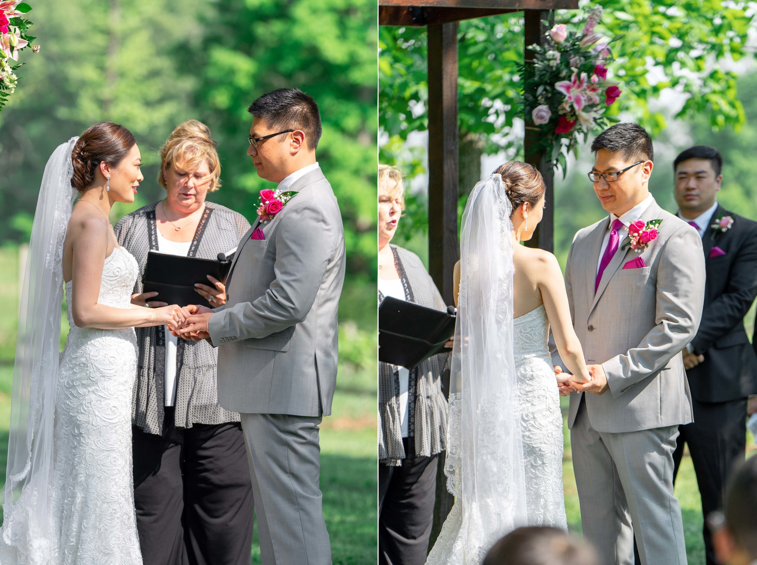 Collage of Sony a7riii and Sony a9 wedding ceremony photography