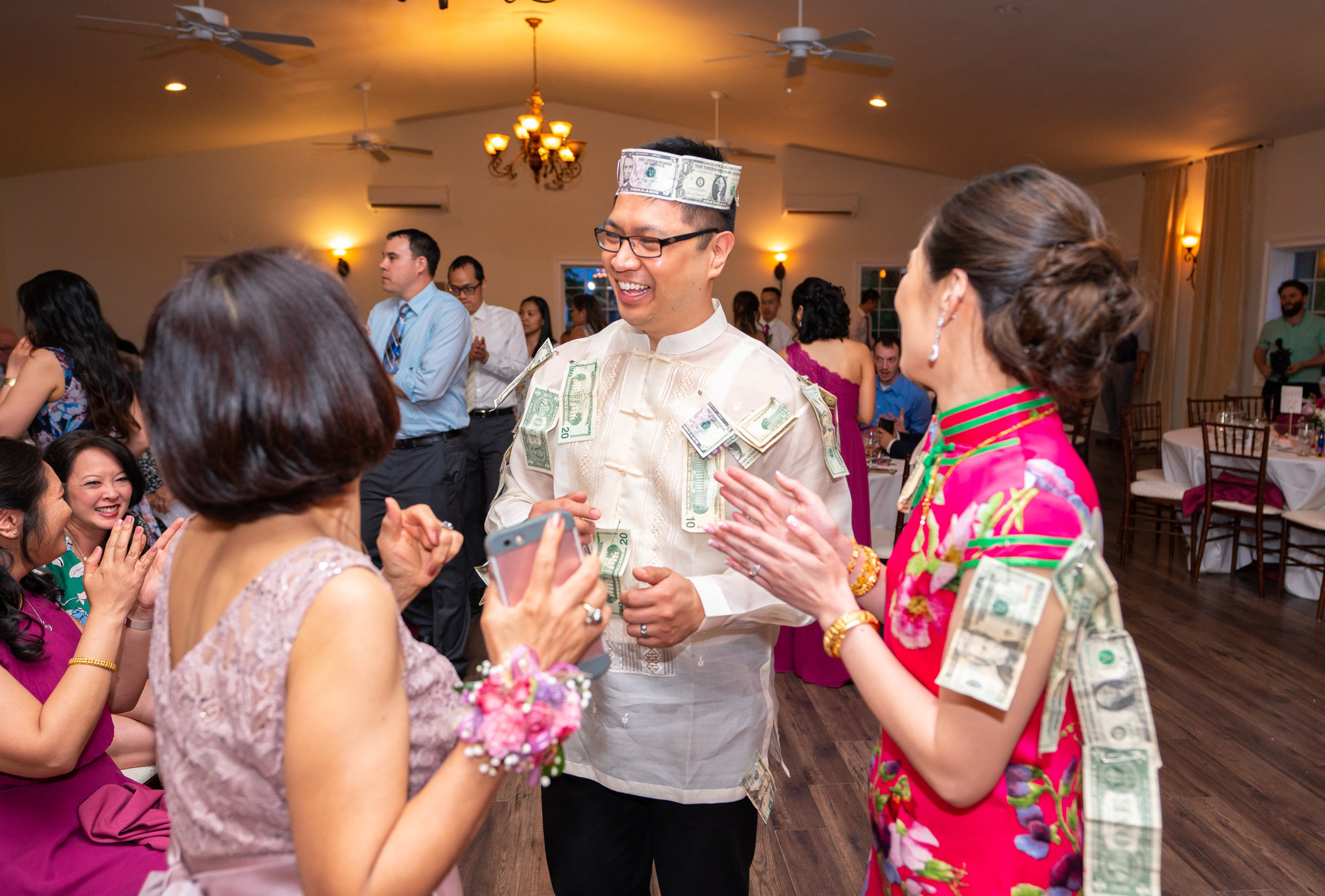 Money Dance tradition at Lost Creek Winery wedding