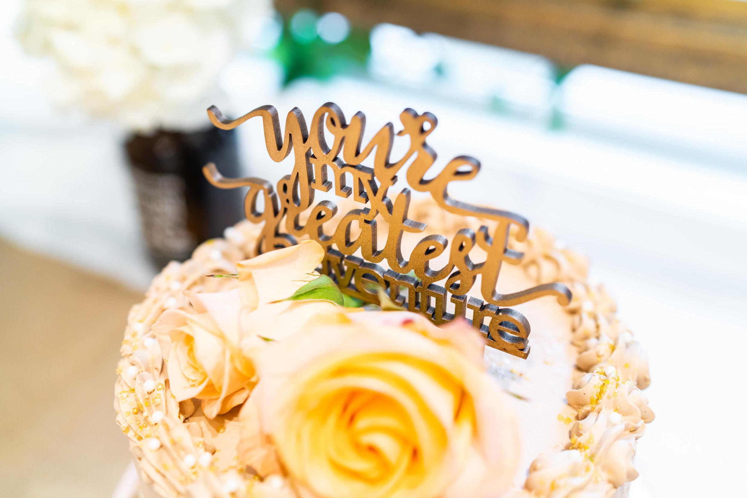 Wedding cake by Brown Box Cake Stand in Washington DC
