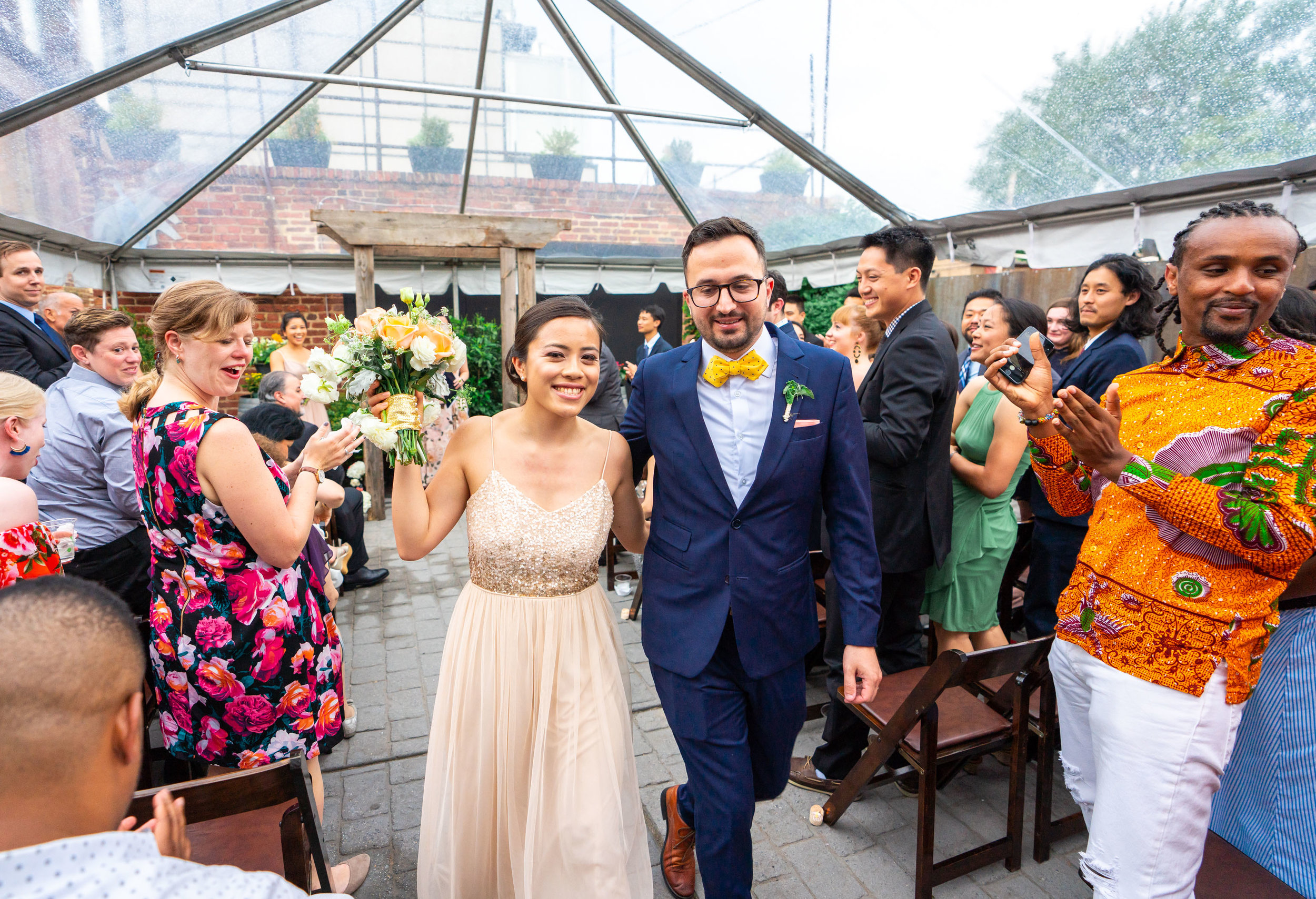 Wedding ceremony at urban venue Gallery OonH in DC by Jessica Nazarova