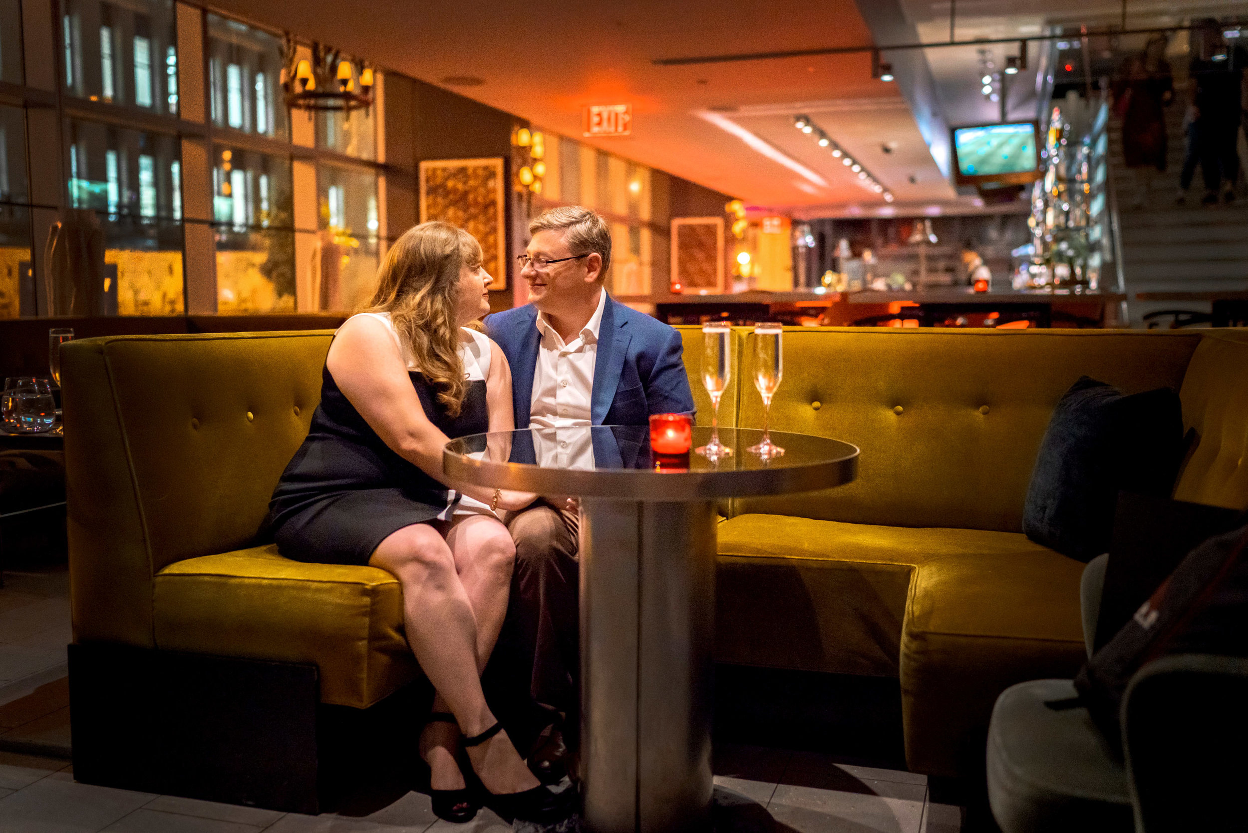 Bar area at The Source by Wolfgang Puck engagement session