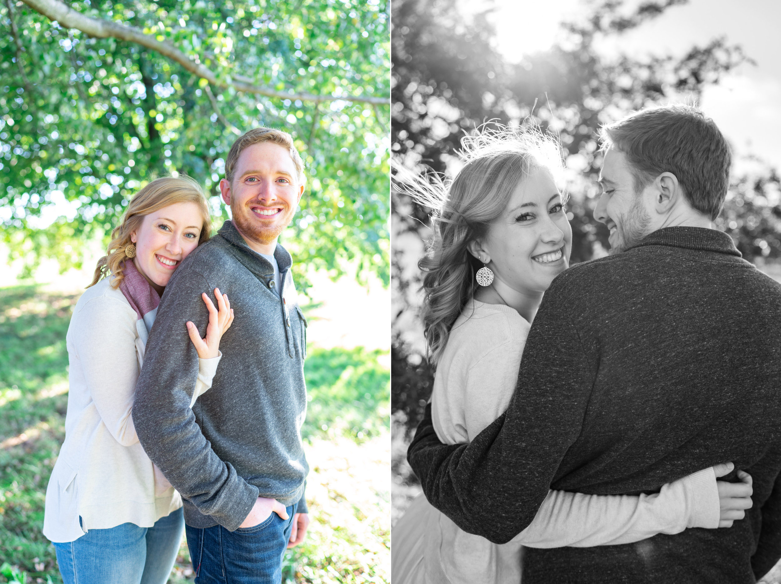 Fort McHenry engagement session photos under the trees