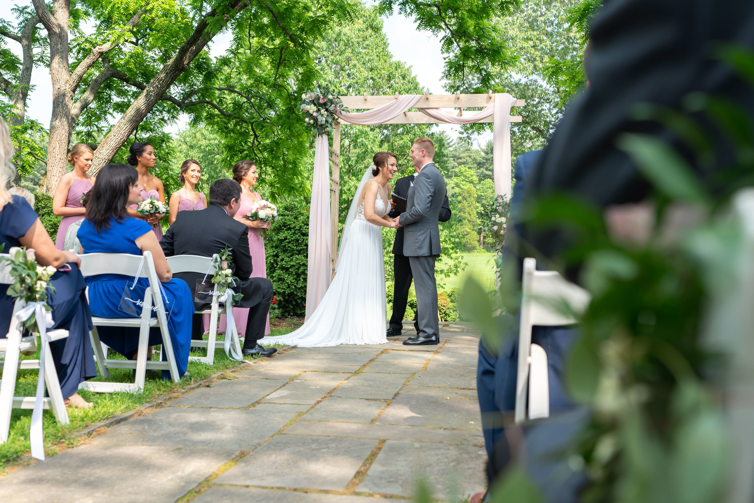 Fun wedding ceremony photography at Glenview Mansion in Rockville Maryland