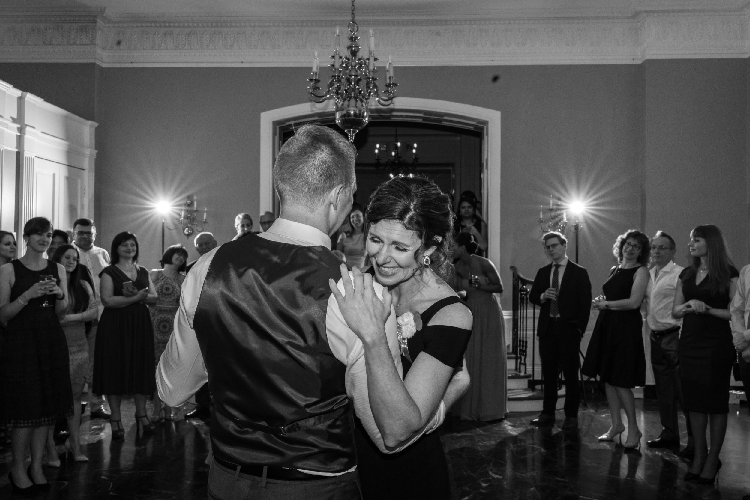 Emotional mother son dance with stardurst lighting from Sony hvl-f60rm wedding