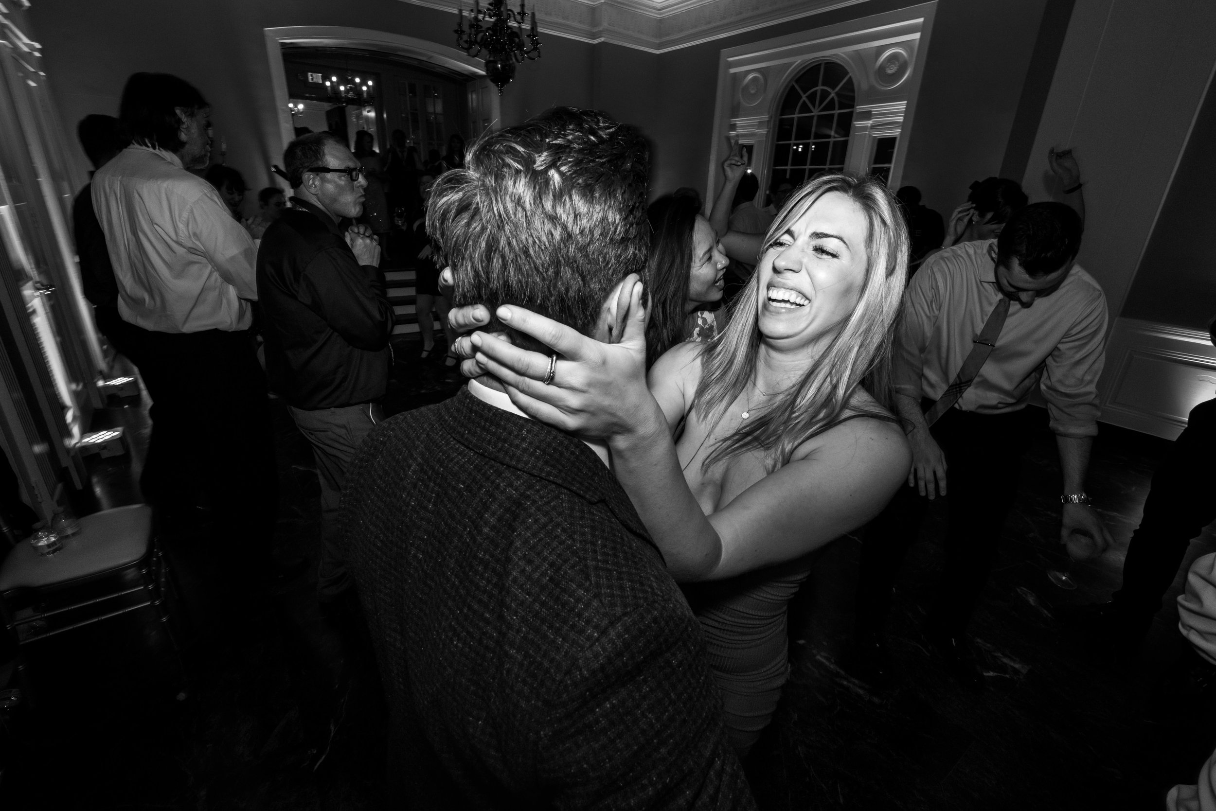 Fun couple dances at wedding in Rockville maryland venue