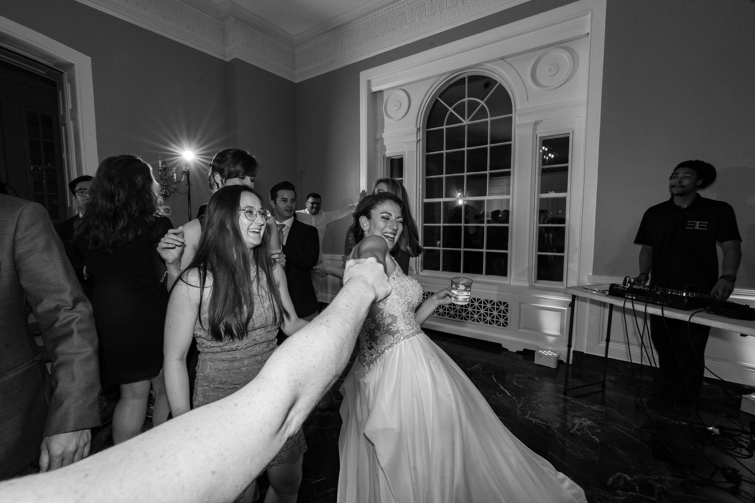 Fun wedding photography captures bride dancing at washington dc reception