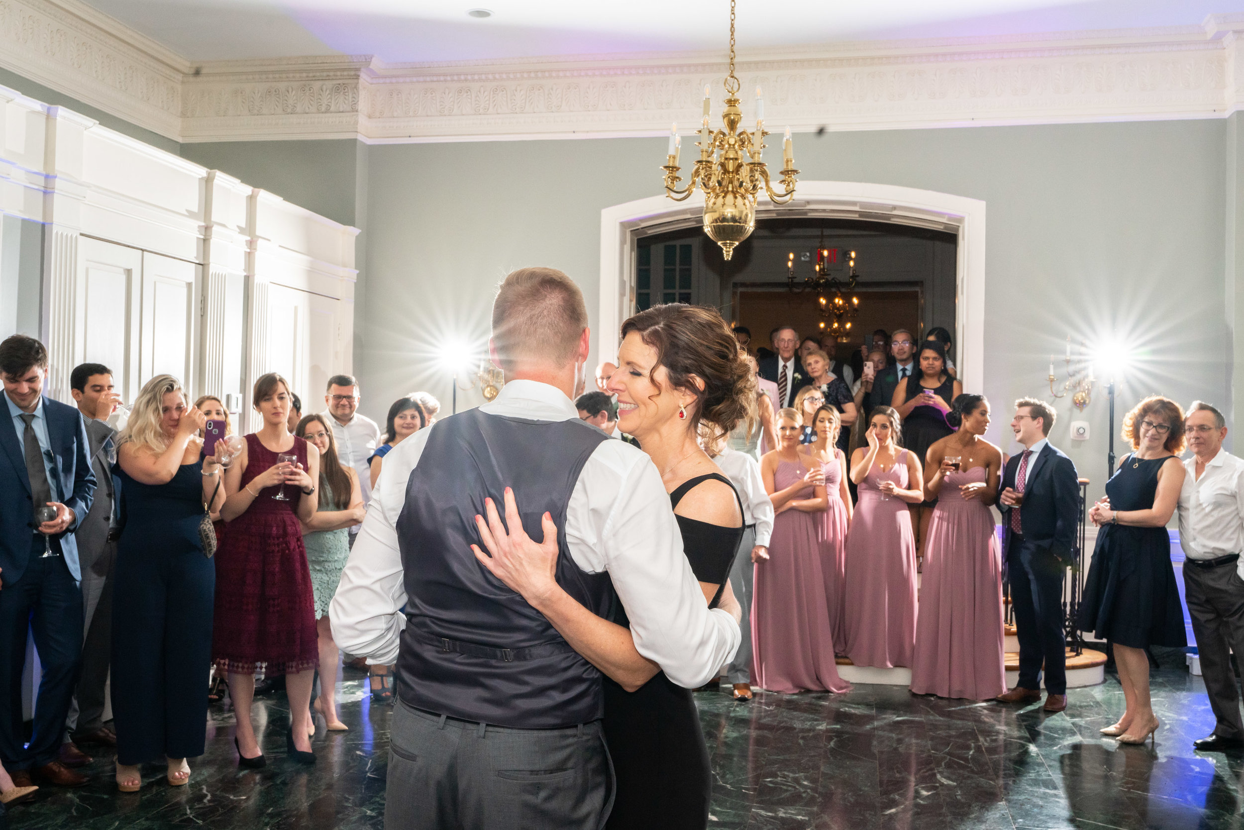 Mother son dance photographed on sony a7riii wedding photography