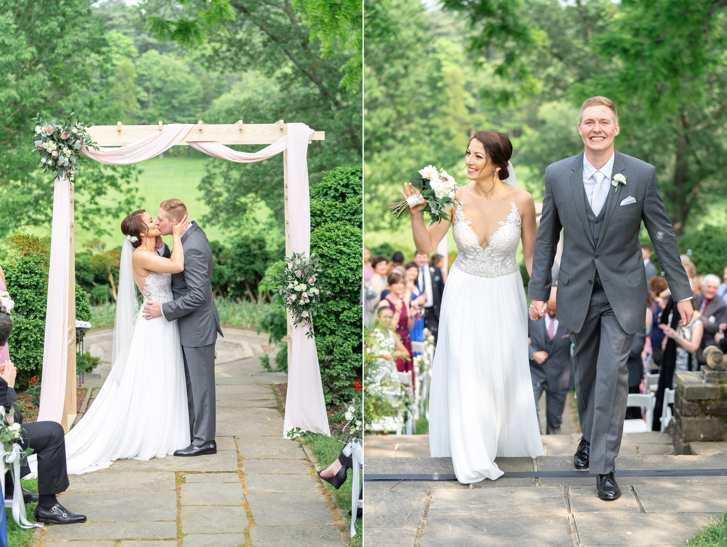 Wedding ceremony photography at Glenview Mansion