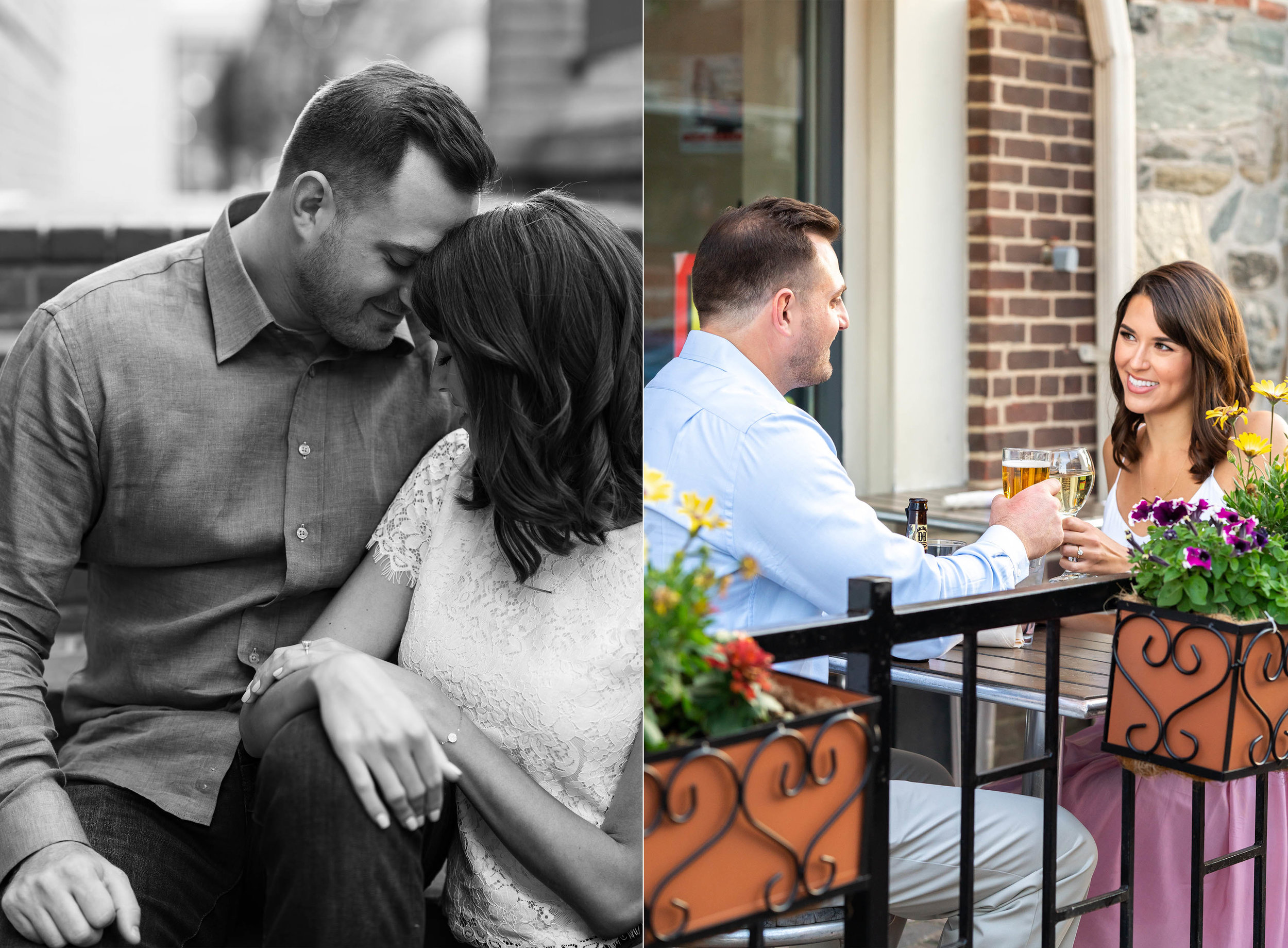 old town alexandria urban engagement session ideas