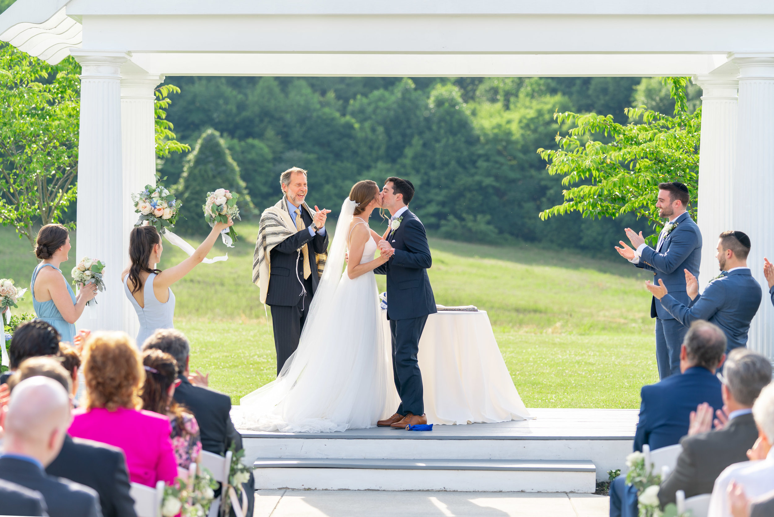 Bride and groom at springfield manor winery and distillery