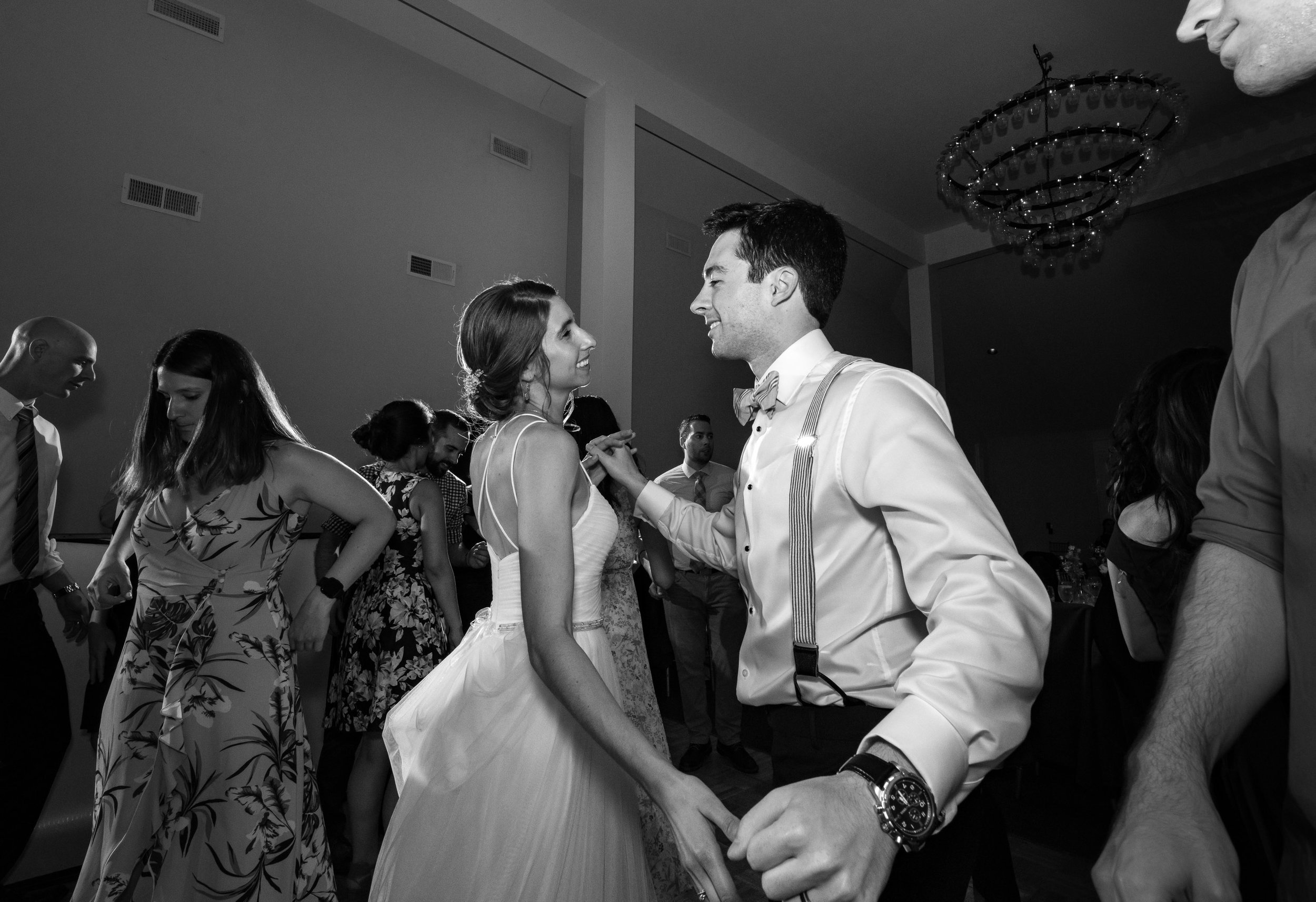Last dance with the bride and groom at Springfield Manor Winery and Distillery