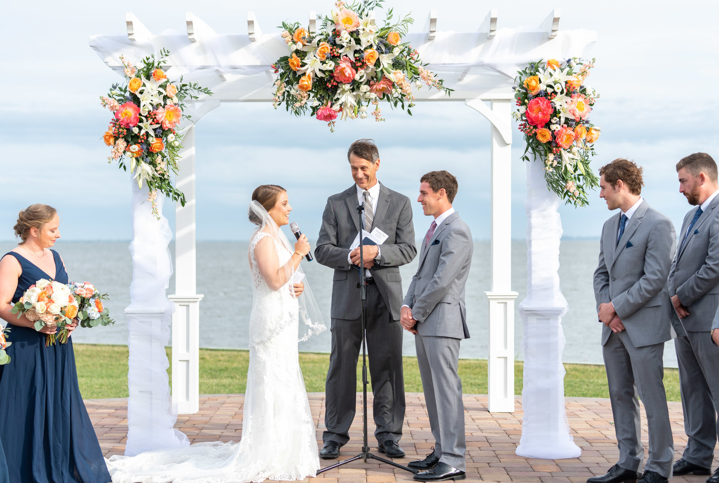 Rehoboth Beach Country Club waterfront wedding in Delaware