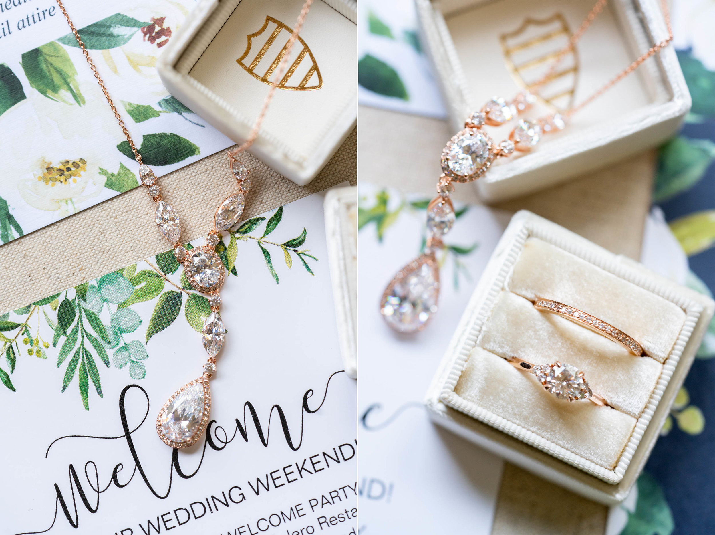 Mrs Box and double in margaery with rose gold and invitation set