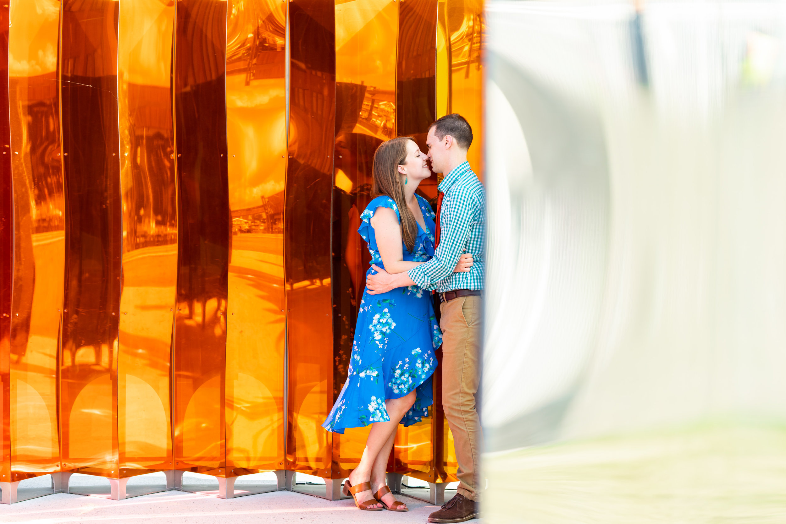 mirror mirror art installation in old town alexandria engagement session