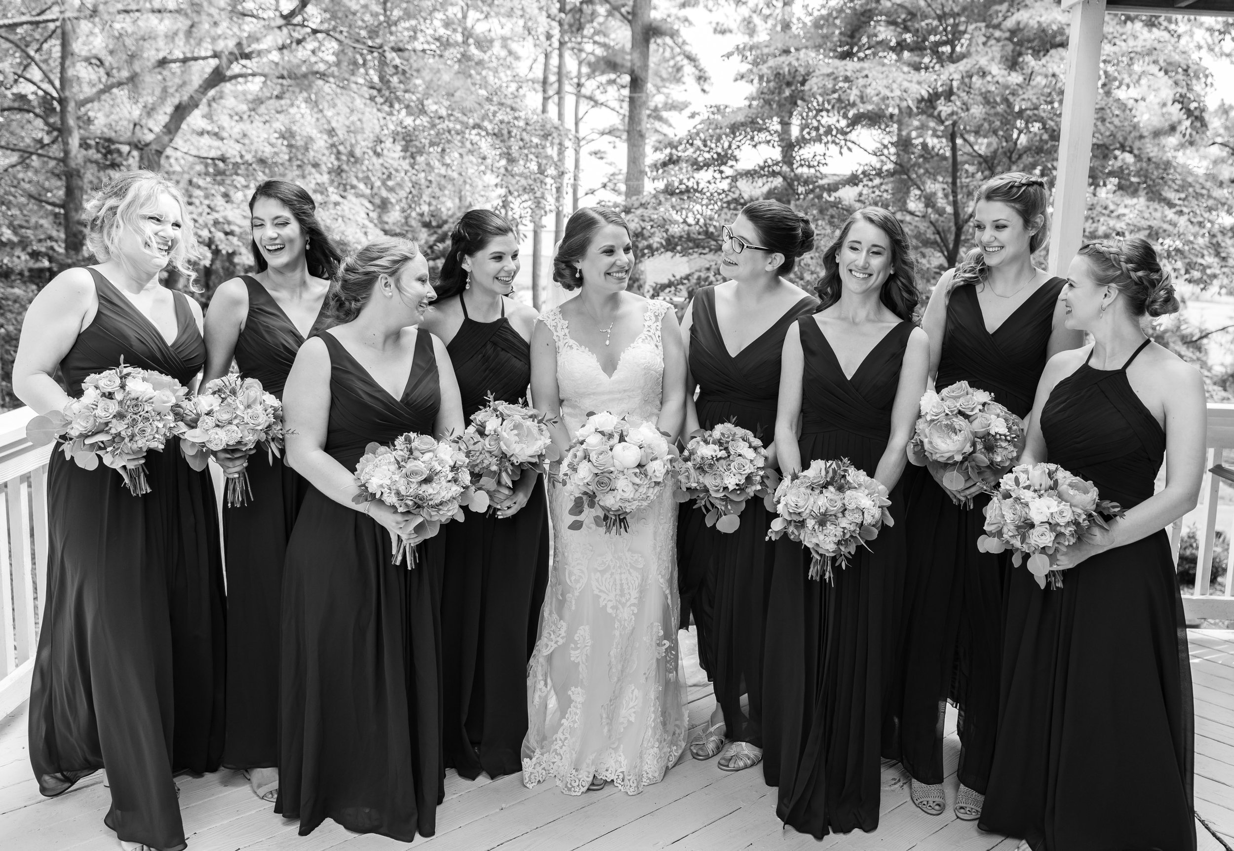 bridesmaids in airbnb in rehoboth before wedding