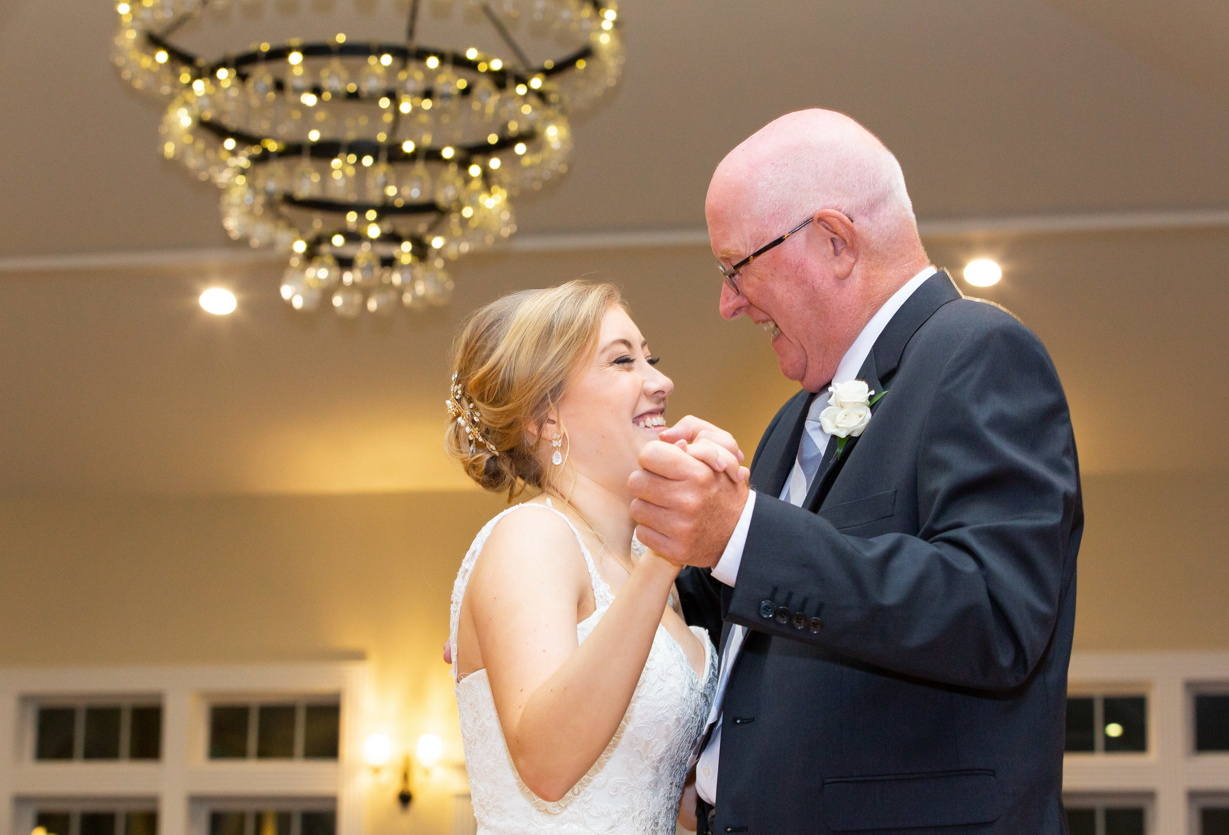 father daughter dance at stone manor country club and springfield manor wine glass chandelier