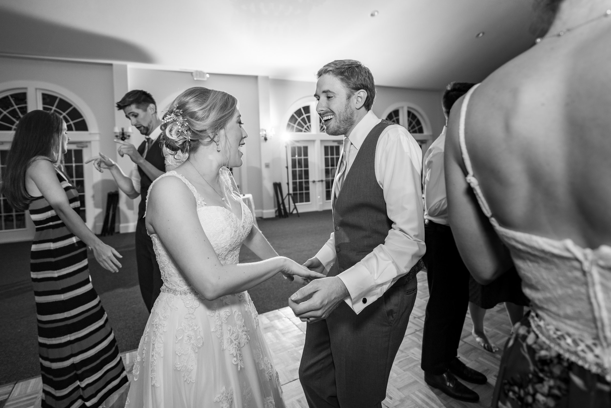 bride and groom during last dance at stone manor country club