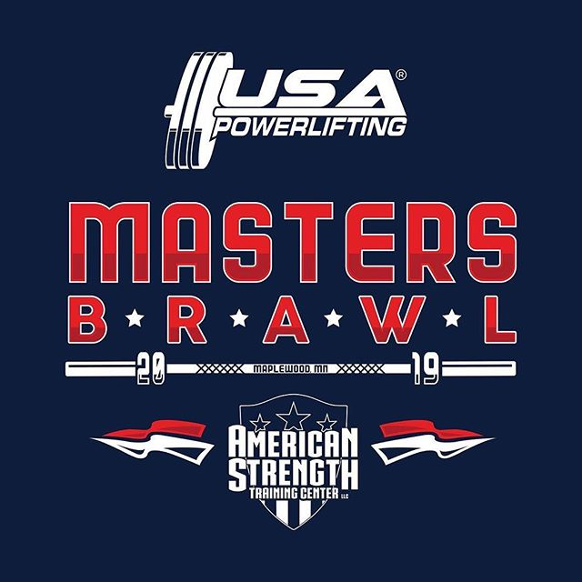 Next Saturday March 30th! Come down and support all the athletes competing in the @usapowerlifting USAPL 2019 Masters Brawl hosted right here at @american.strength!