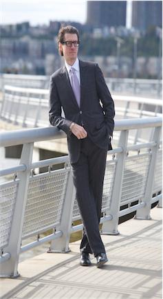 SuitCafe grey suit for men