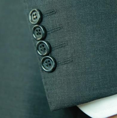Small hand stitching on sleeve edge
