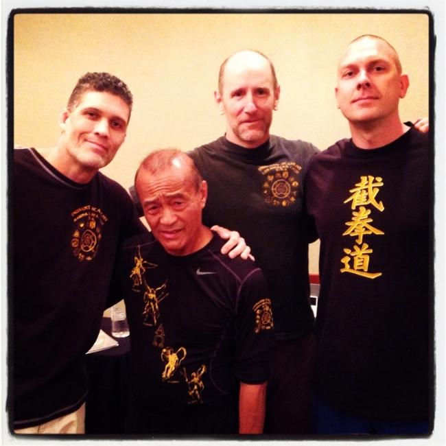 Coach Terry, Guro Inosanto, Guro Joel, Coach Adam