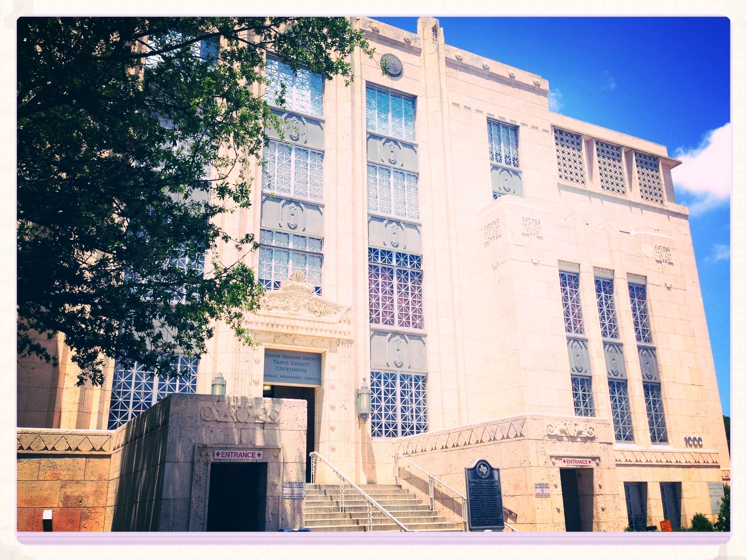 The Travis County Civil Courthouse.