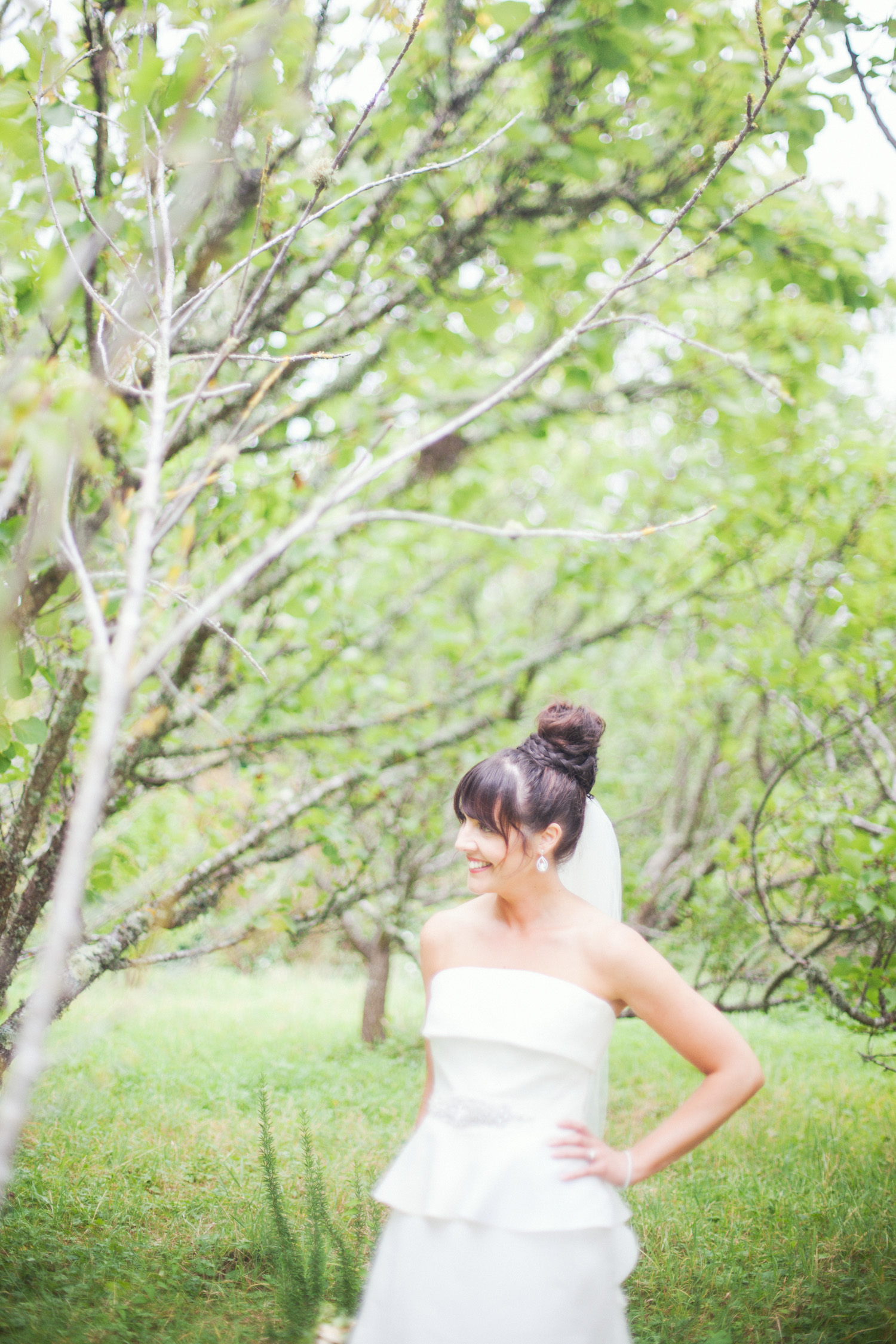 Bride looking beautiful in her wedding photos
