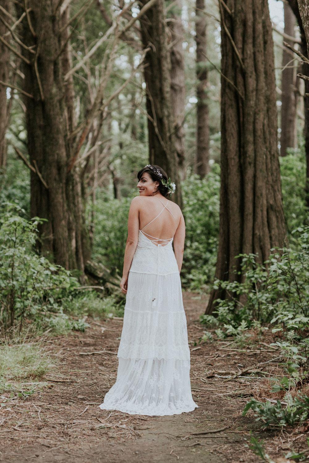 Bride wearing dress from Spell & The Gypsy Collective