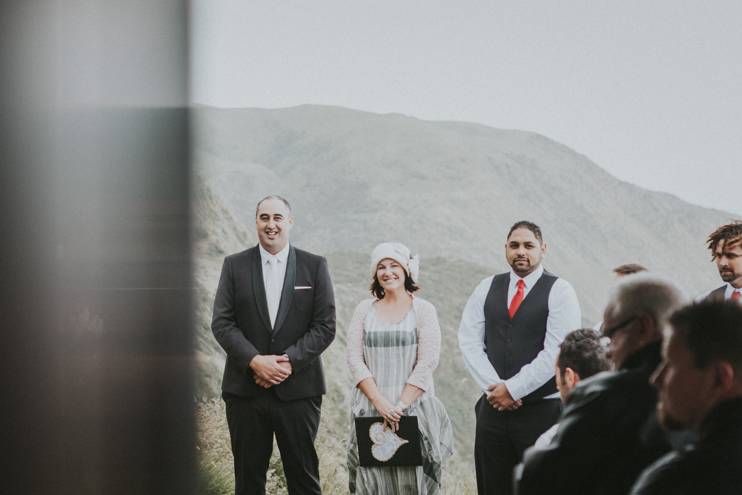 Grooms first look at Bride as she walks down wedding aisle