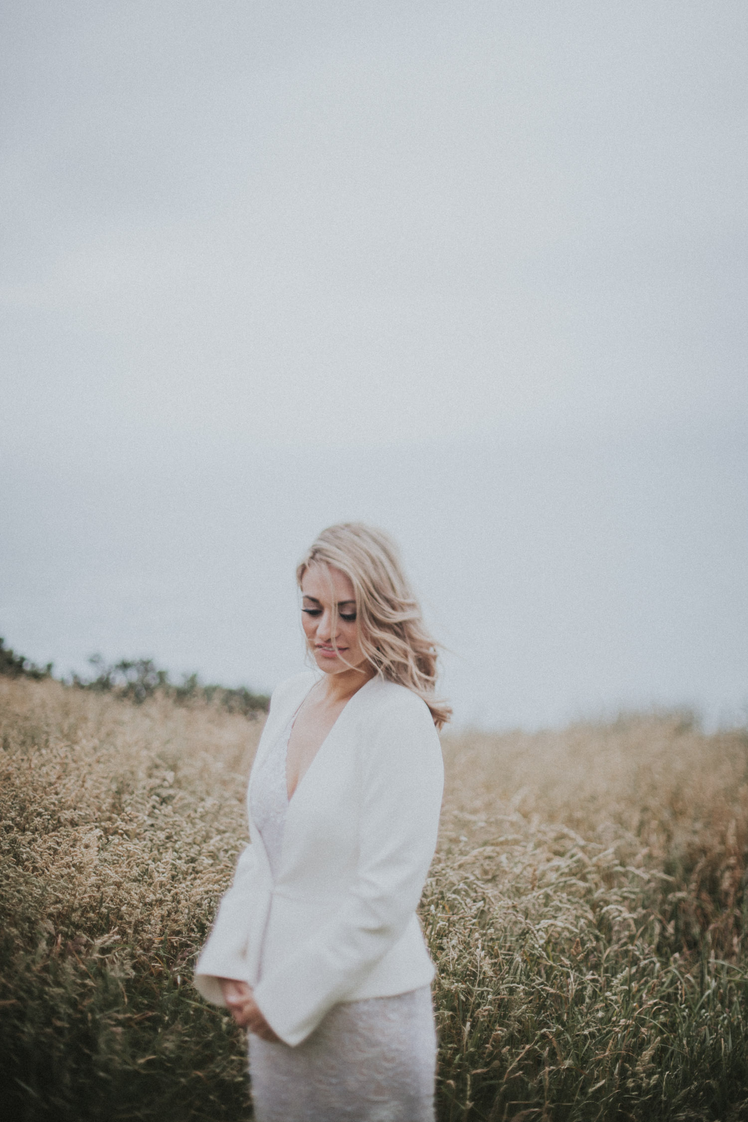 Wedding photography of Bride standing on her own