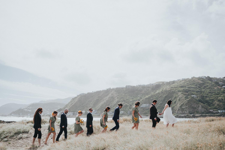 Houghton Bay bridal party wedding photos