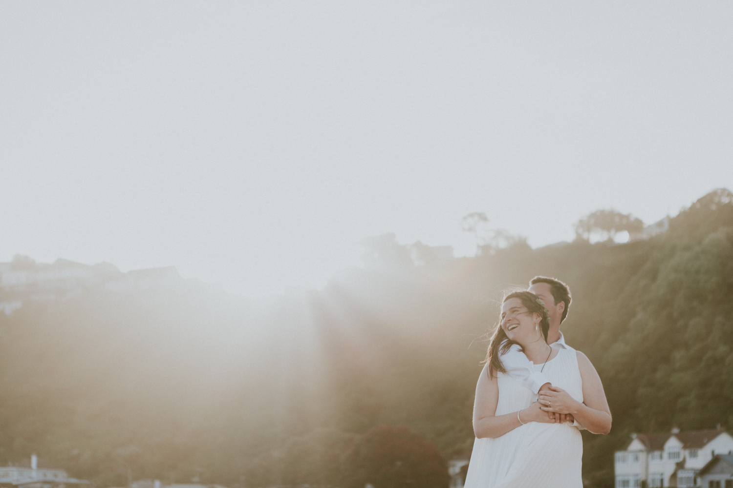 Golden hour is a great time to take wedding photos