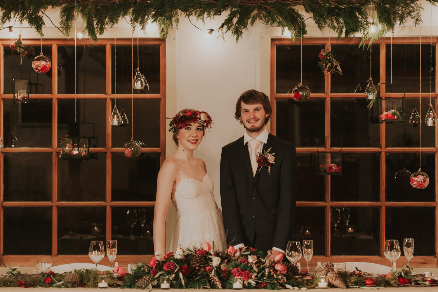 Bride and Groom at their wedding reception