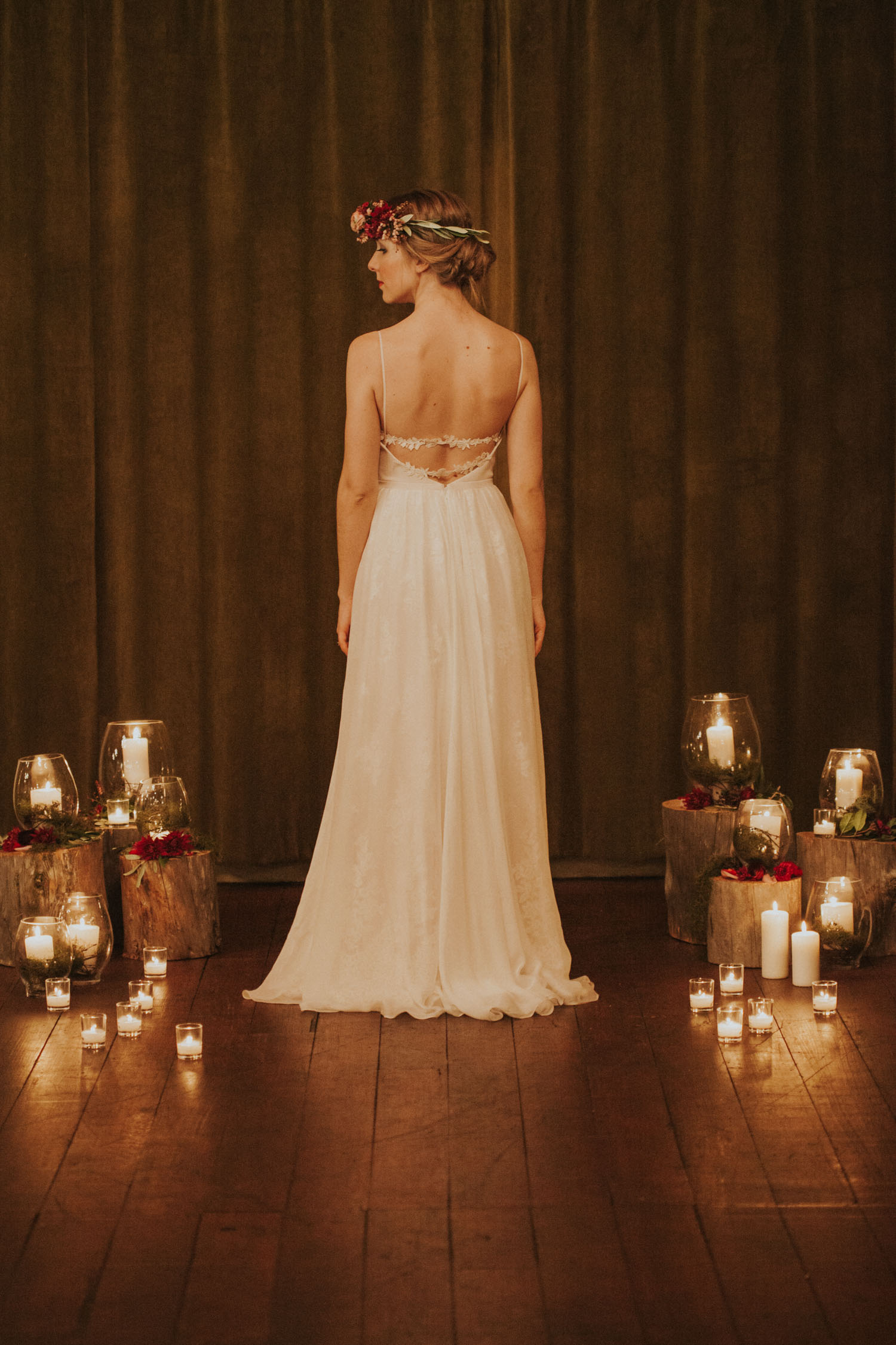 Bride wearing a Sally Eagle Bridal dress