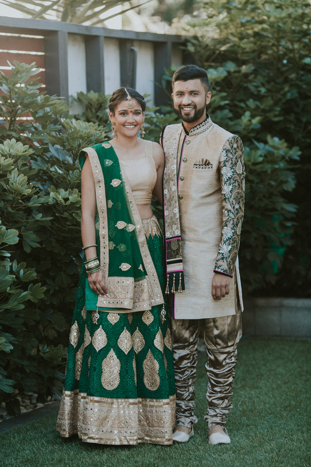 Indian couple celebrating their engagement