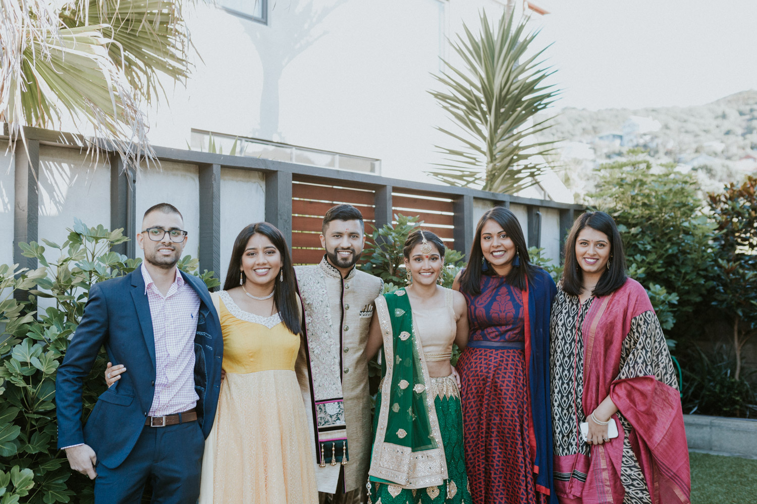 Photo of friends at Indian engagement