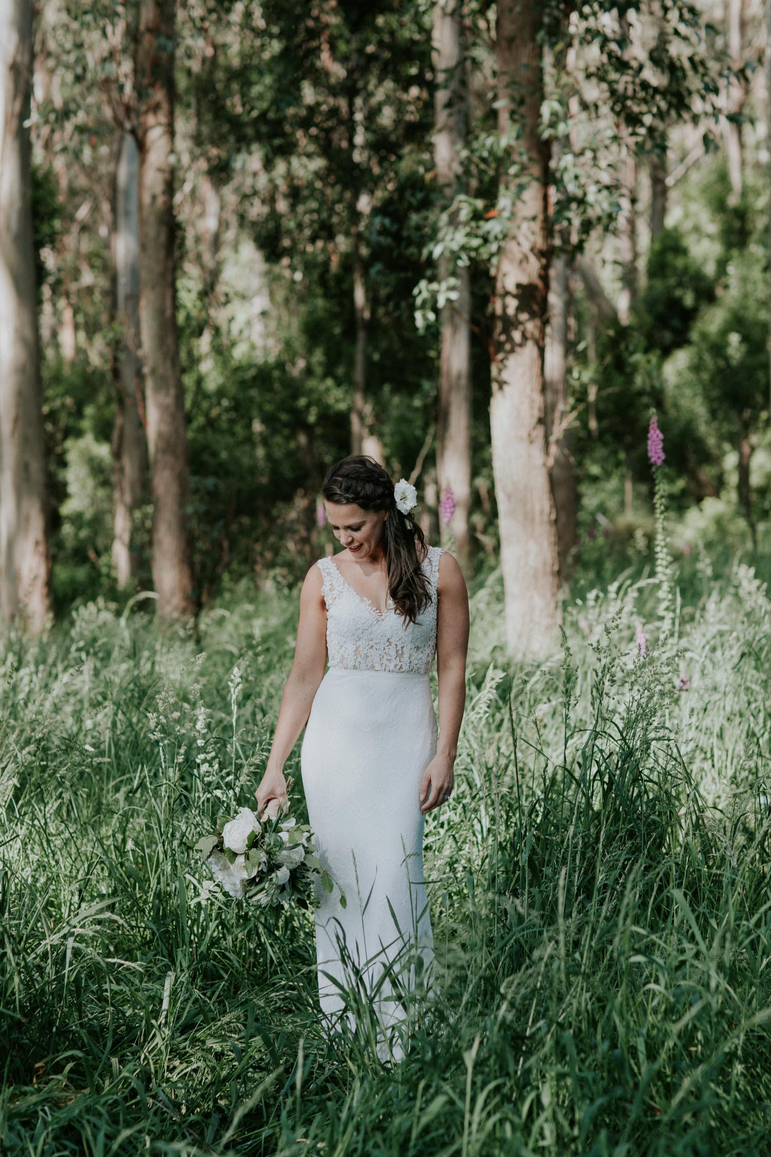Bride wearing her dress from Daisy Brides NZ