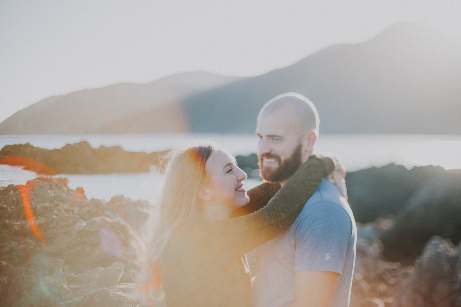 Sunset engagement photo shoot